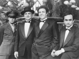Governor Christie (second from left) with aides