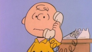 Charlie Brown receives the news of his conviction and banishment from his school