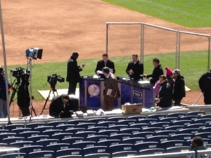 YES network talking heads pontificate before the game