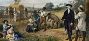 Donald Trump oversees his plantation